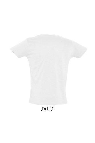Sols - First - Herren Slub Jersey T-Shirt , White , M