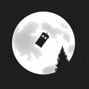 Full Moon Police Box - Stofftasche / Beutel Braun b8uoal