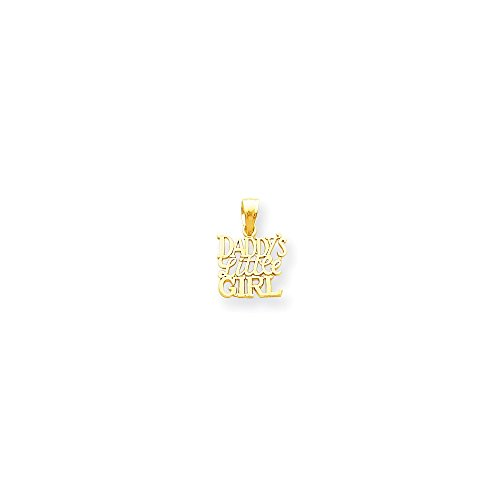 FB Jewels 10K Yellow Gold Daddys Little Girl Charm