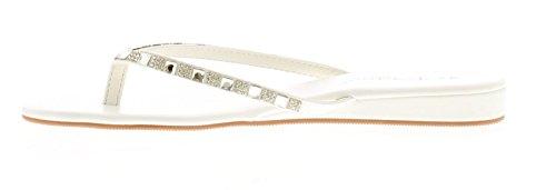 Platino Damen Strass Zehentrenner Style Sandale mit Gepolstert Innensohle und Slight Keil An der Ferse Strass Detail zu Obermaterial Fügt An Element of Glamourös! Glanz An