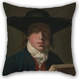 - Artistdecor Pillowcover Of Oil Painting Henry Robert Morland - George Morland 20 X 20 Inches / 50 By 50 Cm,best Fit For Study Room,lover,floor,home Office,dinning Room Each Side