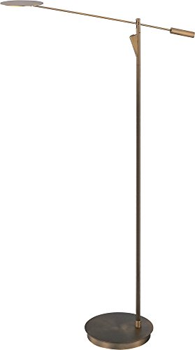 ET2 E41009-BZ Eco-Task LED Floor Lamp, Bronze Finish, Glass, PCB LED Bulb, 8W Max., Dry Safety Rated, 2700K Color Temp., Standard Dimmable, Shade Material, 1650 Rated ()