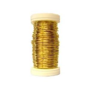 Metallic Wire Golden Florist Floral Craft Aluminium Wire 24 Gauge 164 ft (164 feet) 50m 91