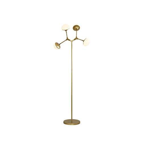Lámpara de pie- LED Ajustable con Forma de Bola de Vidrio ...