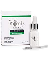 Yoffee Clear Advanced Nail Fungus Solution with Antibacterial Tea Tree and Moisturizing Argan Oil for Finger and Toe Nails. 0.34 oz.