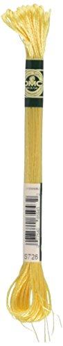 - DMC 1008F-S726 Shiny Radiant Satin Floss, Light Topaz, 8.7-Yard