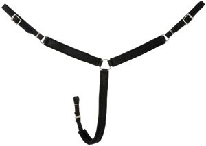 - King Series Nylon Miniature Breast Collar Black