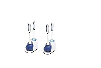 Mr. Clean 440436 Turbo Plunger and Bowl Brush Caddy Set (White/Blue, 2)
