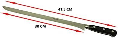 Set cuchillo jamonero forjado 41,5 cm, cuchillo deshuesador 29 cm, pinzas y cubre jamón, juego de cuchillos profesional de aleación molibdeno vanadio, LepantoHouse