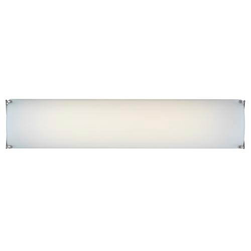 Forecast Lighting F3482-36U Edge Energy Efficient Two-light CFL Bath with Etched White Glass, Satin Nickel