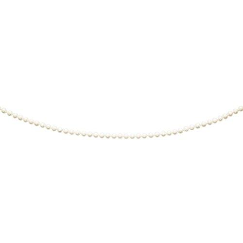 So Chic Bijoux © Collier Femme 45 cm Perles Eau Douce 5 mm Crème Ivoire Or Jaune 750/000 (18 carats)