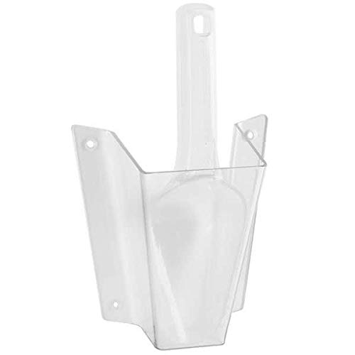 (Cal-Mil 1031-6 Wall-Mount Scoop Guard w/ 6-oz Scoop - Polycarbonate, Clear)