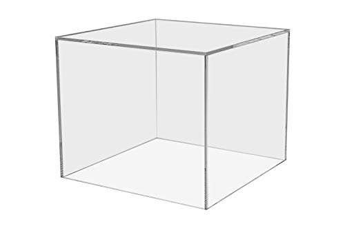 Marketing Holders Acrylic Platform Performance Desktop Display Box Art Sculpture Pedestal Collectible Cube Cover Trophy Trinket Showcase Stand Expo Event Wedding Reception Storage Bin 7