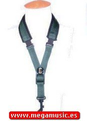 CORDON SAXOFON - B.G. (S17ESH) Ancho Elastico (Acolchado al Cuello) Verde