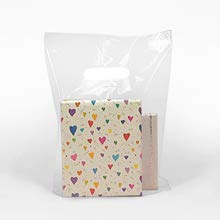 with Die-Cut Handles 100 Pack Boutiques and Souvenirs. 15 x 4 x 18 Plastic Merchandise Bags Low Density for Stores 1.25 Mil LDPE Retail Clothes Shopping Bag Glossy Clear