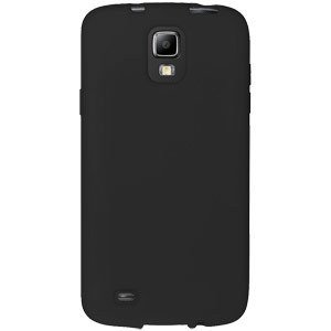 Amzer AMZ95929 Soft Silicone Skin Fit Jelly Case Cover for Samsung Galaxy S4 Active I9295 - Retail Packaging - Black