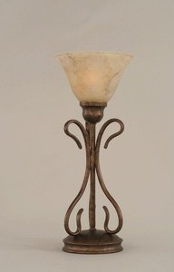 Marble Glass Shade (Toltec Lighting 31-BRZ-508 Swan One-Light Table Lamp Bronze Finish with Italian Marble Glass Shade,)