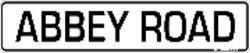 Abbey Road Tin Street - Street Road Sign Abbey