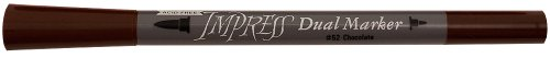Tsukineko Dual-Ended Impress Water-Based Dye Marker, Chocolate -
