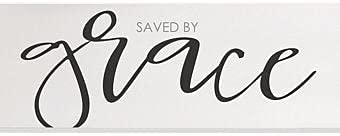 Free Brand Saved by Grace Wood Wall Sign 6x18 Wood Sign,Home Decor