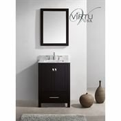 Virtu USA GS-50024-WMRO-WH Transitional 24-Inch Single Sink Bathroom Vanity Set, White