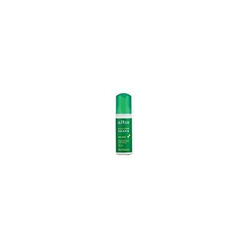 Alba Botanica Very Emollient Foam Shave, Aloe Mint 5 oz (Pack of 12)