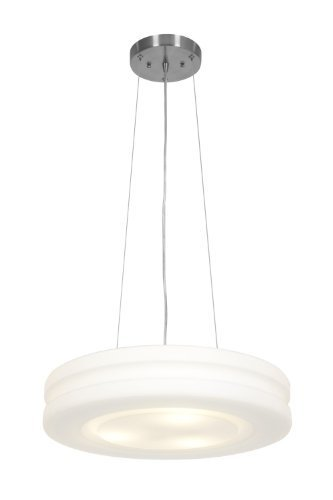 "Access Lighting 50191-BS/OPL Altumà""ircraft Cable Molded Glass Pendant with Opal Glass Shade, Brushed Steel Finish by Access Lighting"