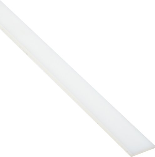 Nylon 6/6 Rectangular Bar, Opaque Off-White, Standard Tolerance, ASTM D5989, 1/2'' Thickness, 1'' Width, 1' Length by Small Parts