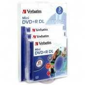 Verbatim 95313 Mini DVD+R DL 2.6G 3pk