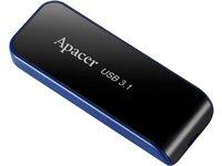 Apacer USB3.1 Gen1 Flash Drive AH356 64GB Black RP, AP64GAH356B-1 (64GB Black RP) ()