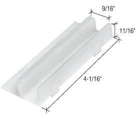 C.R. LAURENCE M6067 CRL Tub Enclosure Sliding Door Bottom Guide for - Bottom Door Guide Screen
