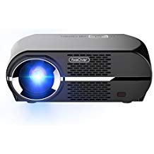 FIXEOVER GP100 Video Projector,LCD 1080P Full-HD Level Image Quality, LED Light Output Brightness, WXGA Resolution, In Your Living Room Bedroom Meet All Entertainment,Games,Video Viewing