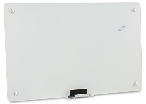 VIVO Tempered Glass Dry Erase White Board Magnetic Wall Mount Hanging Whiteboard 36