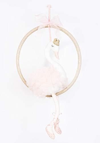 MON AMI Princess Swan Designer Plush Doll on Ring Swing, 10