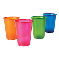 Office Depot Plastic Cups, 16 Oz, Assorted Colors, Pack Of 100, 11591