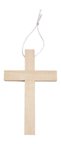 "1 Piece Generic (Small Wooden Crucifix Crosses One Pack of 25 Pieces 3¼"" Tall Natural Color)"
