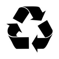 amazon com recycle sign symbol stencil 6 inch 7 5 mil standard