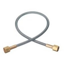 "Western Enterprises PF-4-48 Flexible Pigtails, 3,000 psi, Brass, Female, 48"", Female Brass Connection, 0.5 Length"