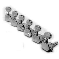 Strat Tuning Machines - Fender Tuner for Squier '99-'06 Affinity Series Stratocaster Electric Guitars, 6 Pack, Chrome Plated