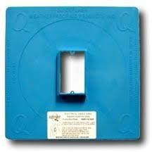 Quickflash E-SGR Electrical Single Gang Raised Plaster Ring Flashing Panel, Package of 24 (Raised Plaster)