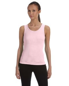 Bella+Canvas Ladies' Baby Rib Tank Top - Soft Pink - L