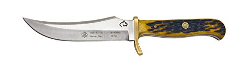 Puma SGB Skinner Brown Jigged Bone Hunting Knife with Leather Sheath ()