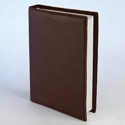 - Leather Bible Cover, Brown, Large