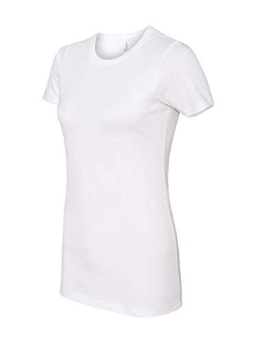 Next Level Apparel Women's CVC Crewneck T-Shirt, White, Small
