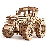 (Wood Trick 3D Mechanical Model Tractor Wooden Puzzle, Assembly Constructor, Brain Teaser, Best DIY Toy, IQ Game for Teens and Adults)