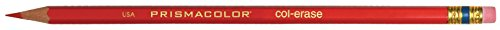 Prismacolor Col-Erase Erasable Colored Pencil, 12-Count, Red (20045) Dixon Erasable Colored Pencils