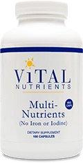Жизненно важных питательных веществ Multi-питательные вещества не из железа и йода Вегетарианская капсулы