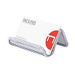 Office Depot Metro Mesh Business Card Holder, Pewter, 22254 ()
