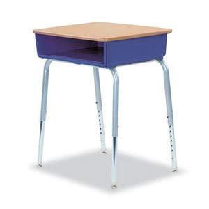 Virco 785 Open-Front Student Desk W/Colored Bookboxes, 24W X 18D, Purple Iris, 2/Count