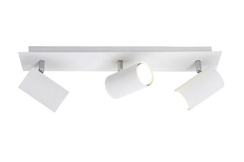 Trio Leuchten Balken in Metall weiß, exklusiv 3xGU10, Länge: 48 cm 802400301